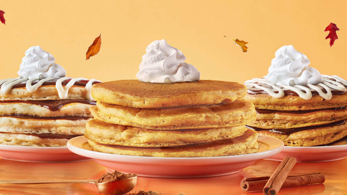 ihop offers new pumpkin cinn a stack pancakes as part of 2018 fall flavors