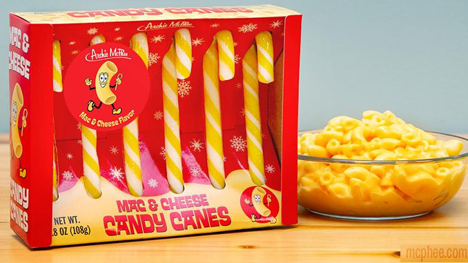 Mac & Cheese Candy Canes Are A Real Thing