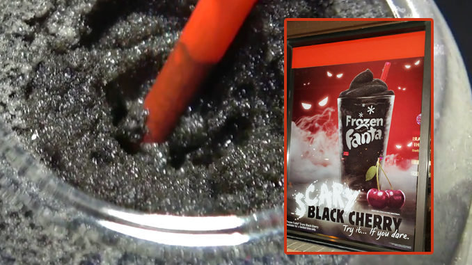 Burger King Spotted Selling Frozen Fanta Scary Black Cherry