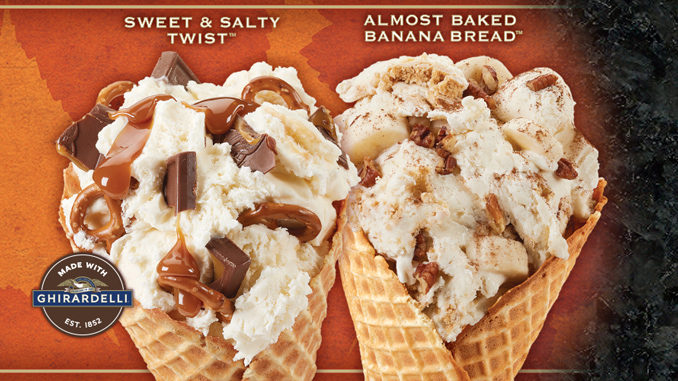 Cold Stone Creamery Introduces New Sea Salt Caramel Ice Cream And Banana Bread Batter Ice Cream