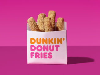 Free Donut Fries With Iced Coffee Purchase At Dunkin' Donuts From October 5-7, 2018
