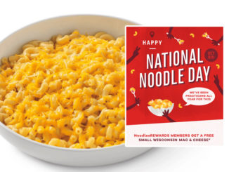 Free Wisconsin Mac & Cheese With Entree Purchase At Noodles & Company On October 6, 2018