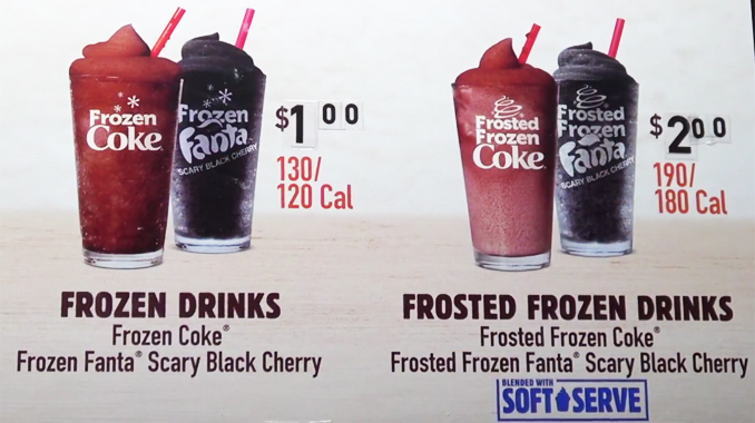 Frozen and Frosted Fanta Scary Black Cherry