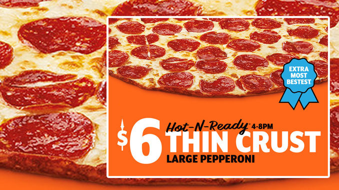 Little Caesars Launches New Thin Crust Pepperoni Pizza Nationwide