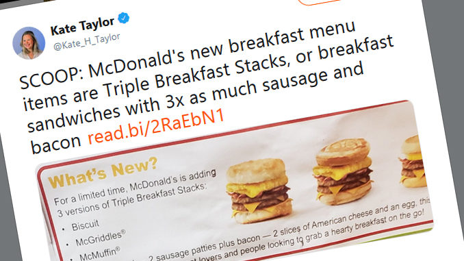 McDonald's Releases New Breakfast Products
