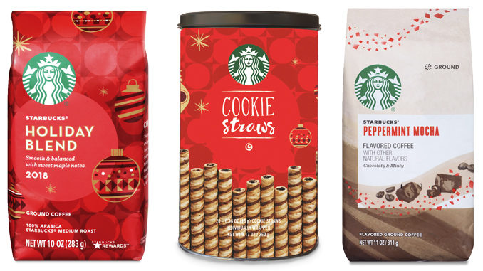 Starbucks 2018 Holiday Coffees And Cookie Straws Arrive In Grocery Stores