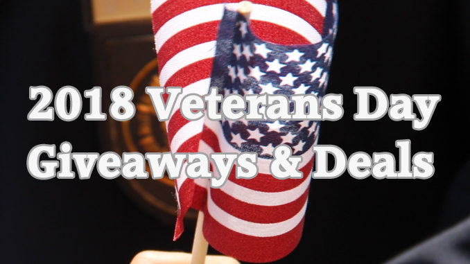 2018 Veterans Day Giveaways And Deals Roundup
