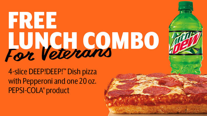 Free Lunch Combo For Veterans And Military At Little Caesars On November 11, 2018