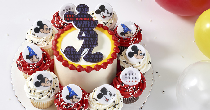 Mickey Mouse Cupcakes And Cupcake Cake