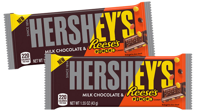 New Hershey's Milk Chocolate Bar With Reese's Pieces Candy Coming This November