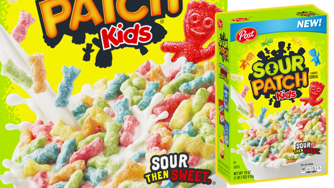 New Sour Patch Kids Cereal Coming To Walmart On December 26, 2018