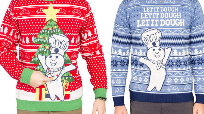 Pillsbury Reveals New Line Of Doughboy Ugly Christmas Sweaters In Celebration Of 2018 Holiday Season