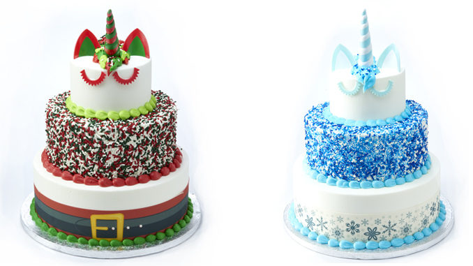 Sam's Club Bakes Up New Santa Unicorn Cake And Winter Unicorn Cake