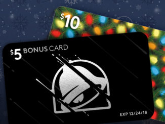 Taco Bell Offers Free $5 Bonus Card For Every $10 In Gift Cards Purchased Online through December 17, 2018