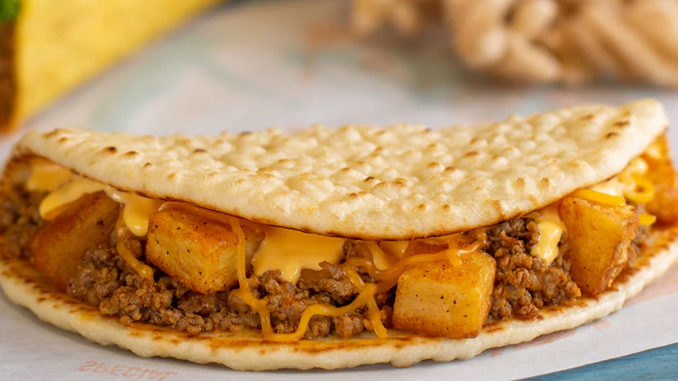 Taco Bell Testing New Beefy Potato Flatbread In Cincinnati