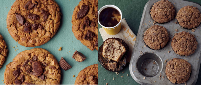 Reese's Peanut Butter Cookie and Coffee Cake Muffin