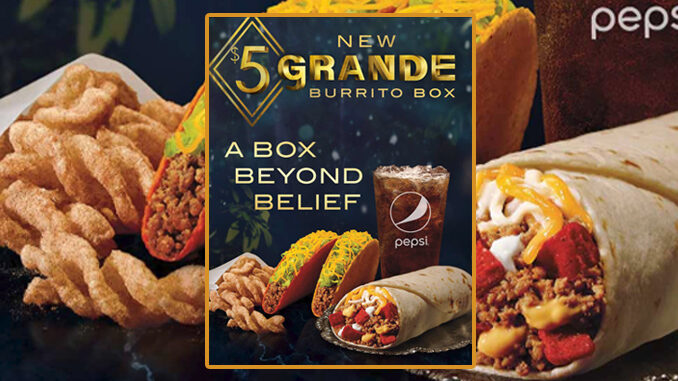 Taco Bell Puts Together New $5 Grande Burrito Box