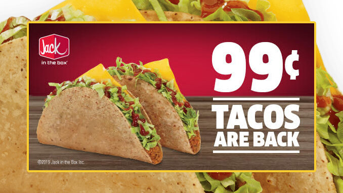 Jack in the Box Brings Back 2 Tacos For 99 Cents Via Mobile App