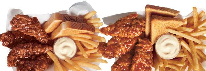 Sauced and Tossed Chicken Strip Baskets
