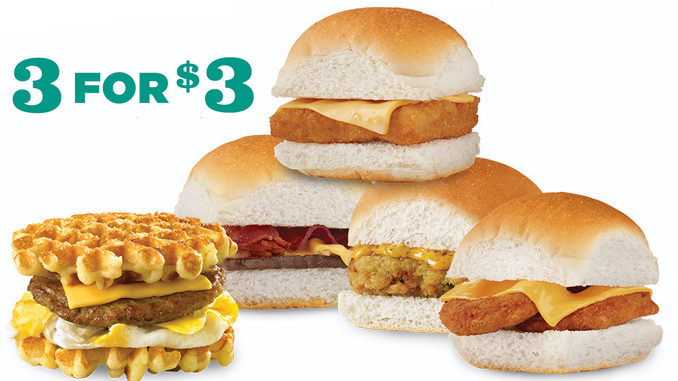 White Castle Puts Together New 3 For $3 Mix & Match Slider Deal