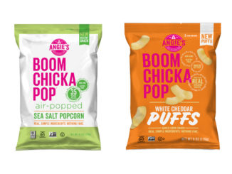 Angie's Boomchickapop Adds New White Cheddar Puffs And Sea Salt Air-Popped Popcorn