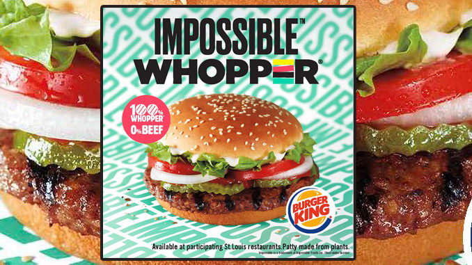 Burger King Is Testing an Impossible Whopper in Missouri