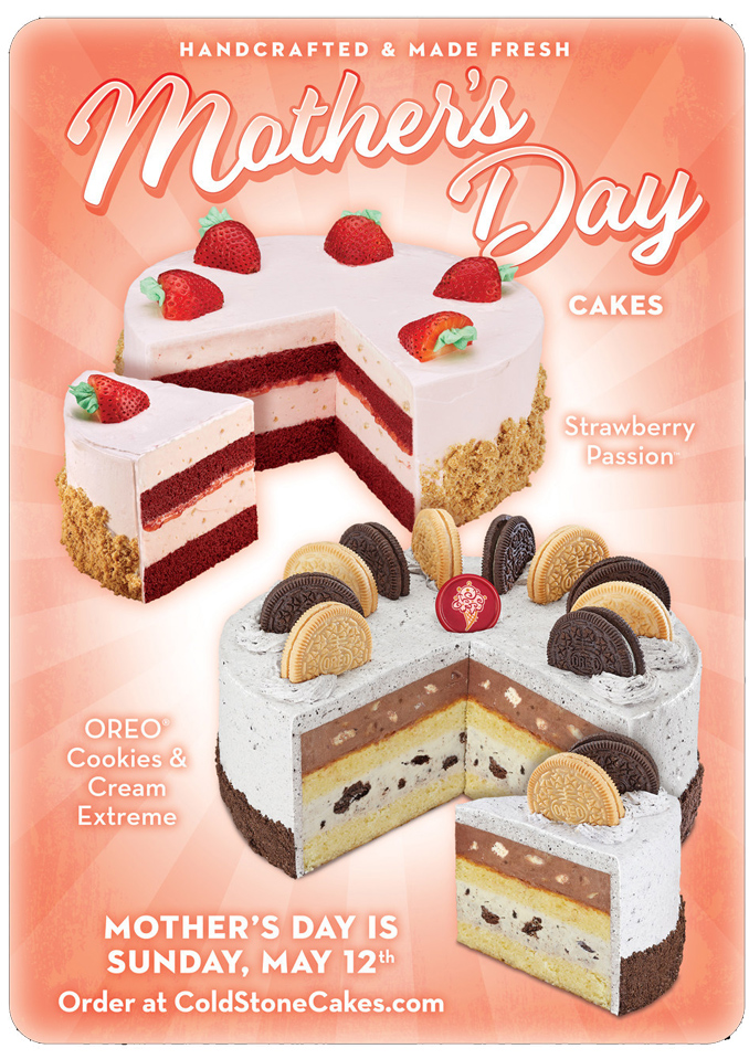 Cold Stone Creamery 2019 Mother's Day Cakes