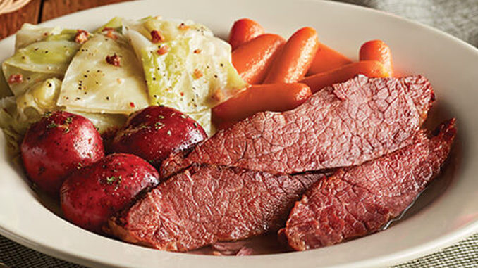 Corned Beef n' Cabbage Is Back At Cracker Barrel Through March 17, 2019