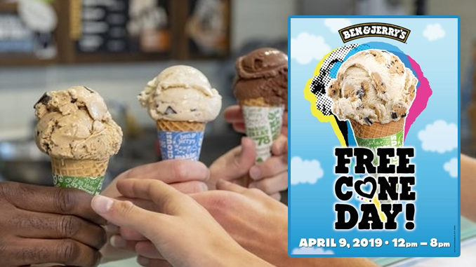 Free Cone Day At Ben & Jerry's On April 9, 2019