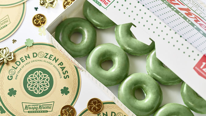 Green O'riginal Glazed Doughnuts Available At Krispy Kreme From March 15 To 17, 2019