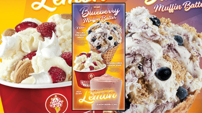 New Wild Blueberry Muffin Batter Ice Cream and Non-dairy Whipped Meyer Lemon Arrive At Cold Stone Creamery