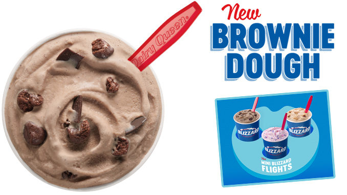 Dairy Queen Unveils New Brownie Dough Blizzard And New Mini Blizzard Flight Tray