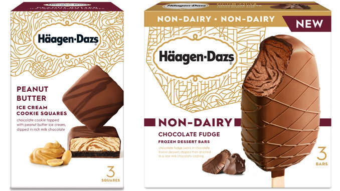 Häagen-Dazs Adds New Peanut Butter Cookie Squares And New Non-Dairy Chocolate Fudge Frozen Dessert Bars
