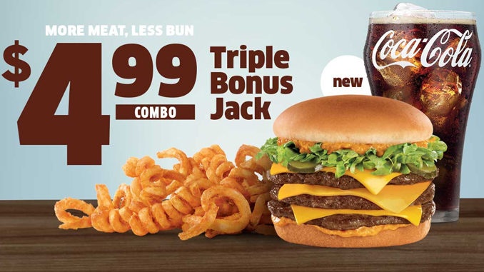 Jack In The Box Serves Up New $4.99 Triple Bonus Jack Combo Deal