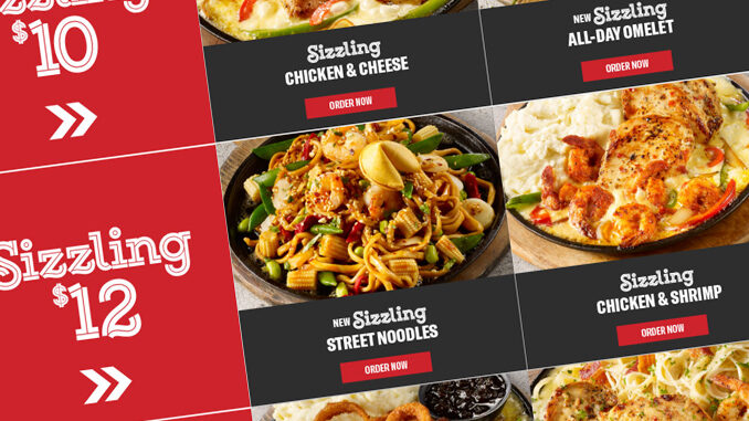 TGI Fridays Puts Together New Sizzling Entrees Deals Starting At $10 Through May 5, 2019