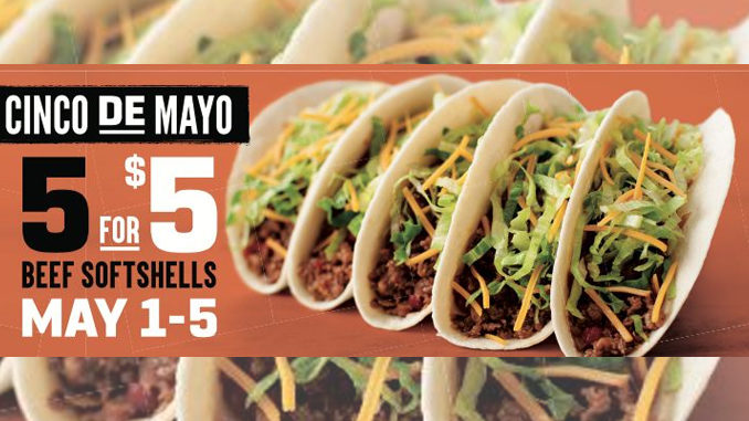 Taco John's Offers 5 Tacos For $5 From May 1 To May 5, 2019