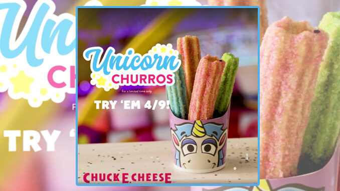 Unicorn Churros Coming To Chuck E. Cheese's On April 9, 2019