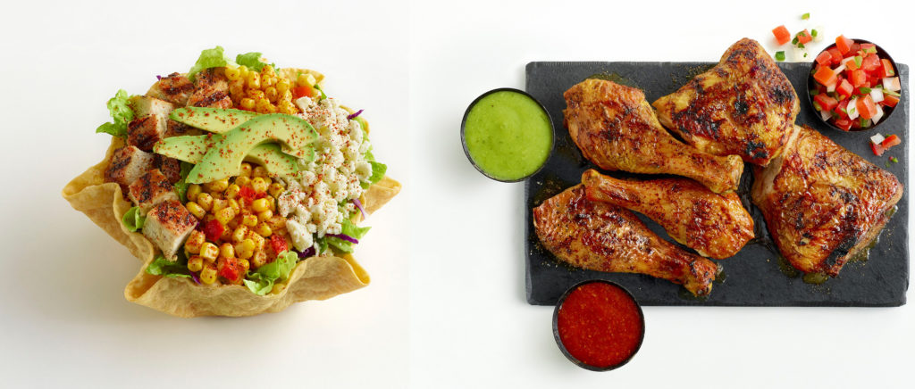 Street Corn Tostada and Fire-Grilled Chicken