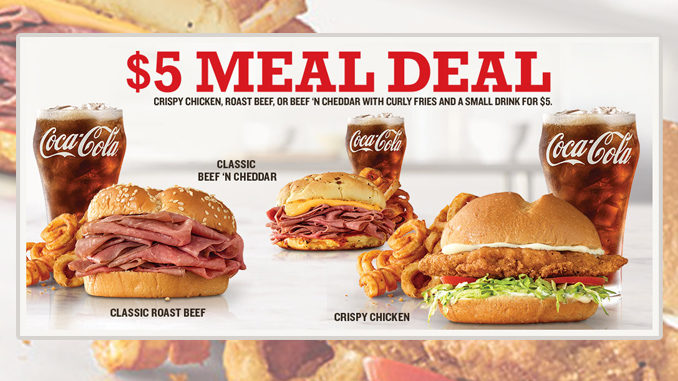 Arby's Puts Together 3 New $5 Meal Deals