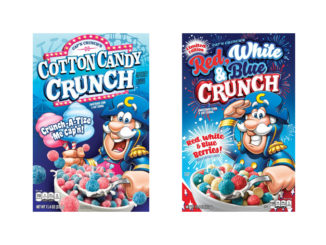 Cap'n Crunch Debuts 2 New Seasonal Flavors: Cotton Candy, And Red, White & Blue