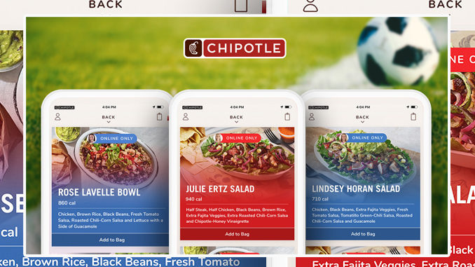 Chipotle Celebrates 2019 Women's World Cup With US Women's Soccer Stars Favorites