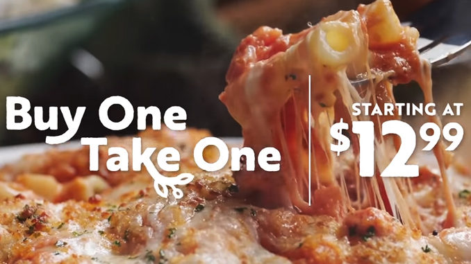 Olive Garden Adds New Creamy Garlic Tuscan Chicken To Returning Buy One, Take One Promotion