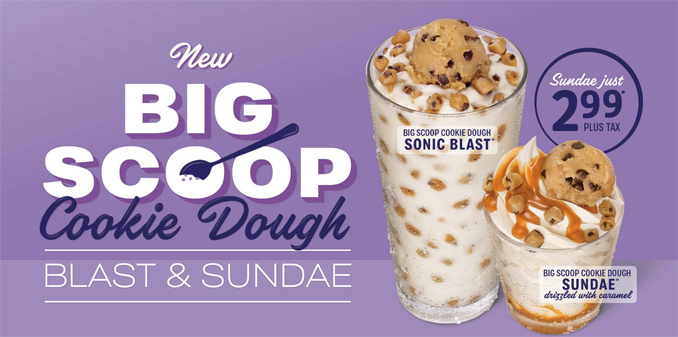 Big Scoop Cookie Dough Blast & Sundae