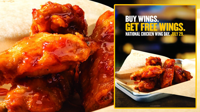 Buffalo Wild Wings offering free wings for National Chicken Wing Day