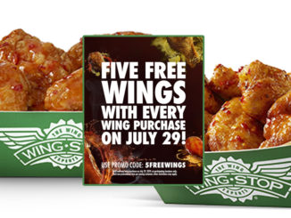 Free Wings With Any Wing Purchase At Wingstop On July 29, 2019