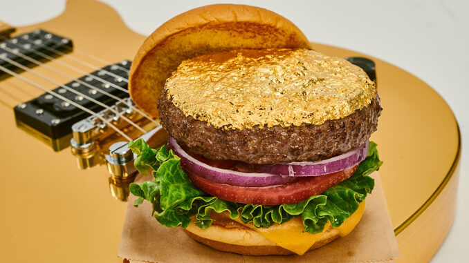 Hard Rock Cafe Puts Together New 24-Karat Gold Leaf Steak Burger, Boozy Milkshakes, Sliders And More