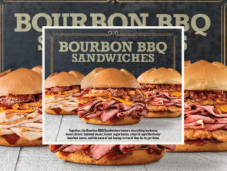 New Bourbon BBQ Barrel Stack Joins Arby's Returning Bourbon BBQ Sandwiches