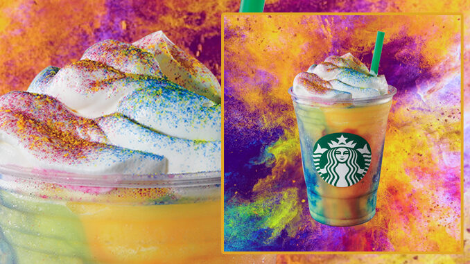 You can get a new Tie-Dye Frappuccino from Starbucks starting today