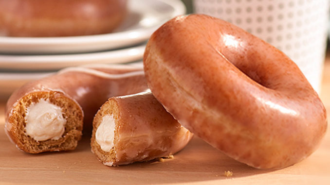 Krispy Kreme Debuts New Pumpkin Spice Original Filled Cheesecake Doughnut For One Week Only Through September 8, 2019
