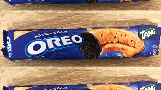 New Oreo Orange Tang Sandwich Cookies Spotted In Dubai